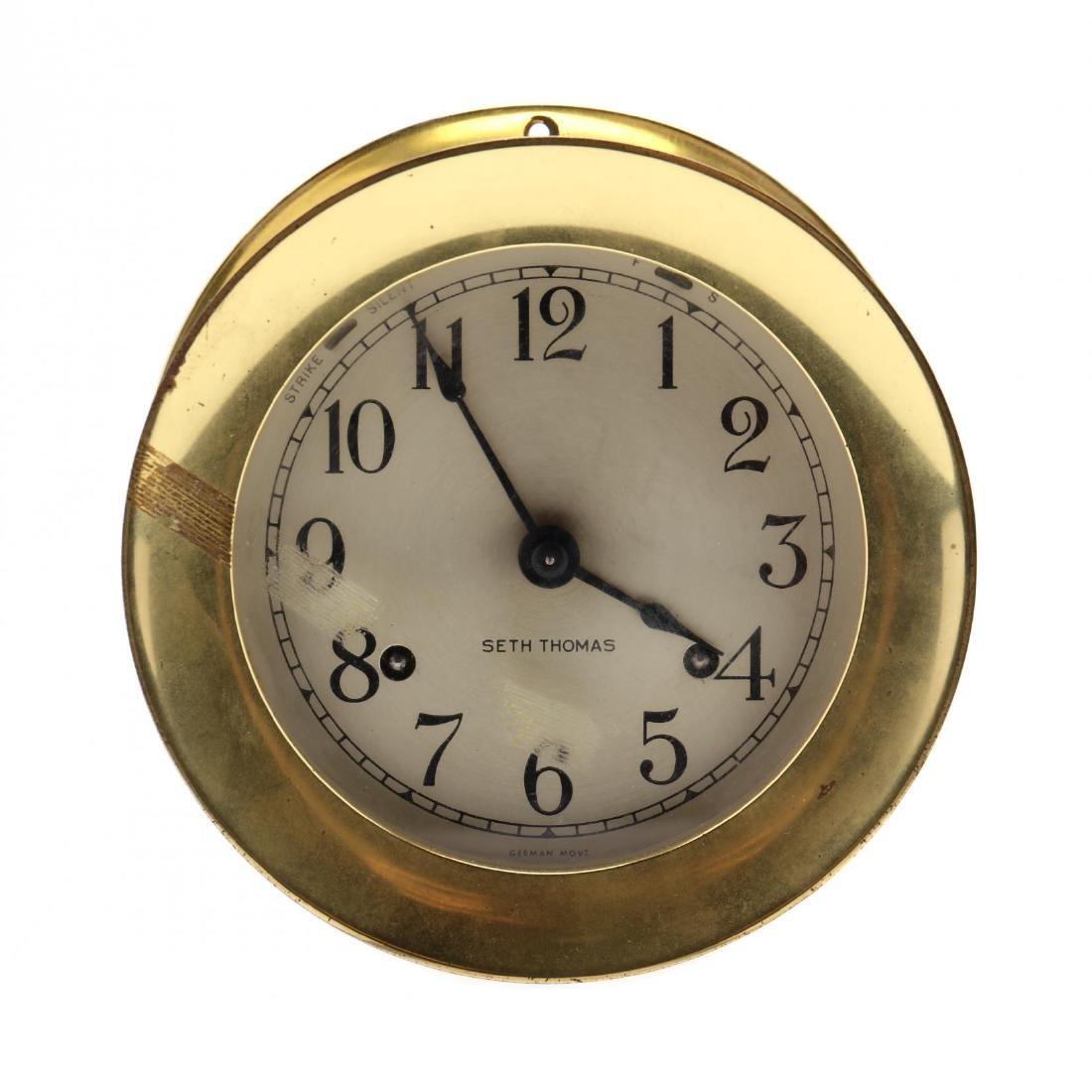 Seth Thomas Ship's Clock - 4