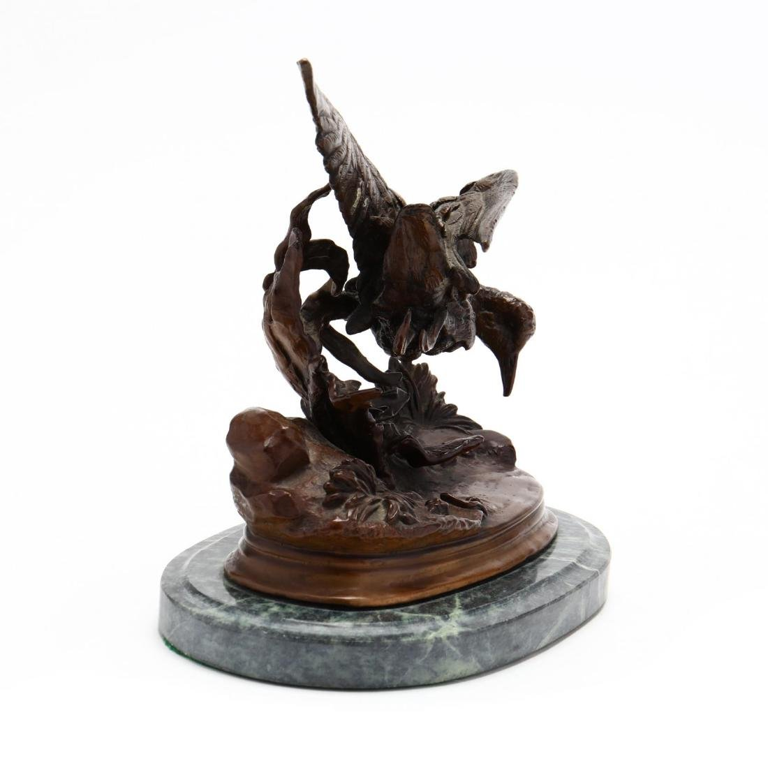 Bronze Sculpture of a Game Bird in Motion - 5