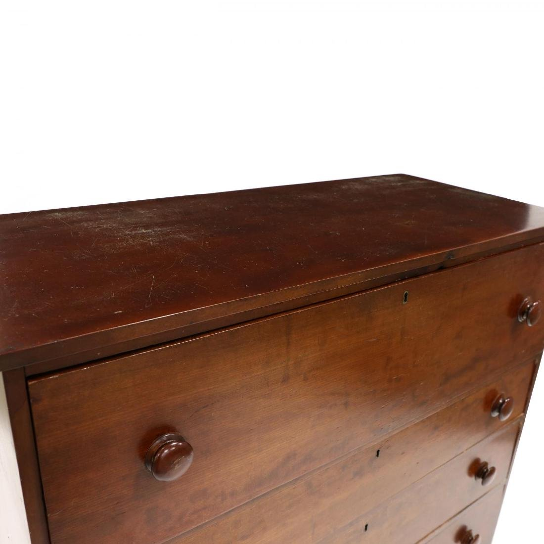 Late Federal Cherry Butler's Chest of Drawers - 2