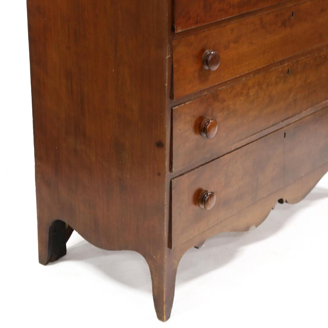 Late Federal Cherry Butler's Chest of Drawers - 3