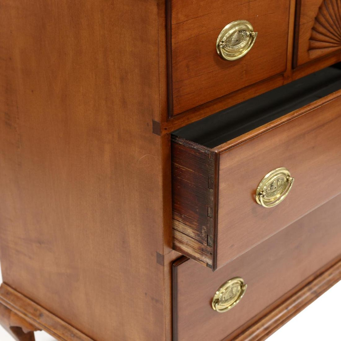 American Queen Anne Cherry Chest of Drawers - 4