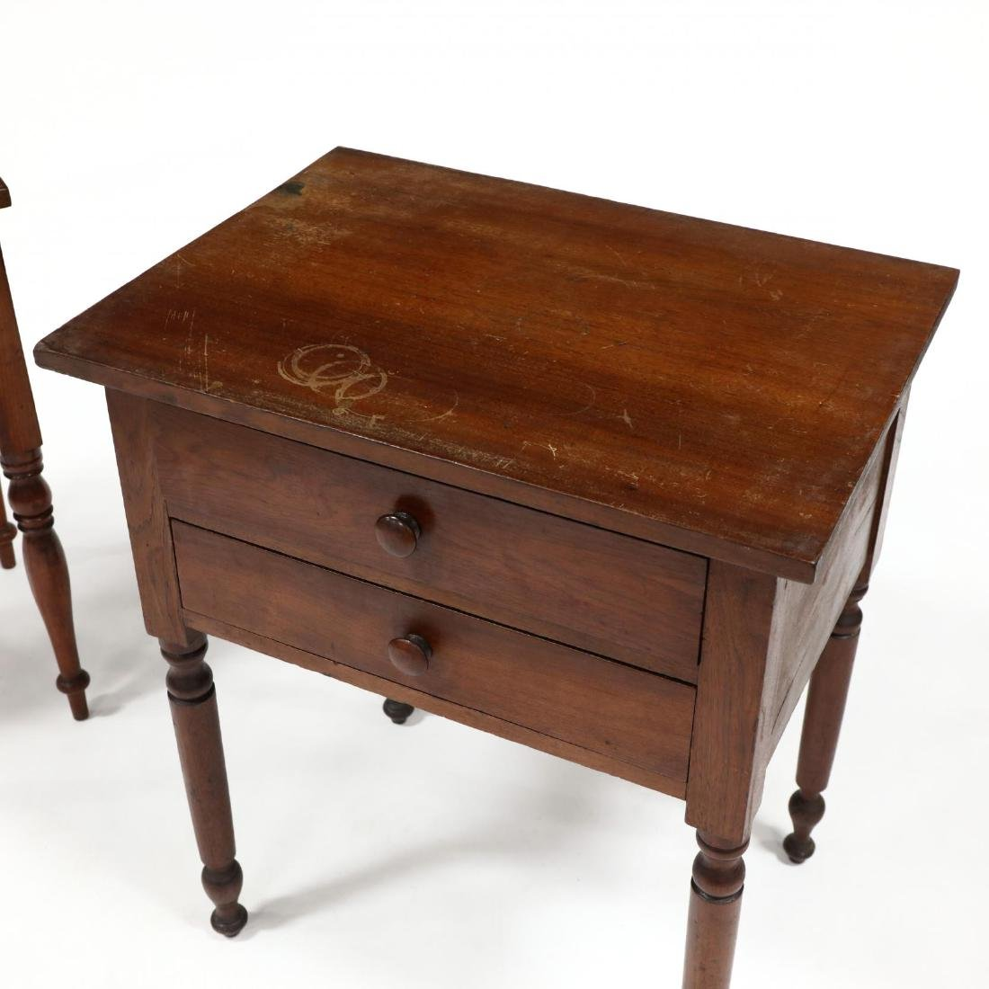 Two Sheraton Walnut Work Tables - 2
