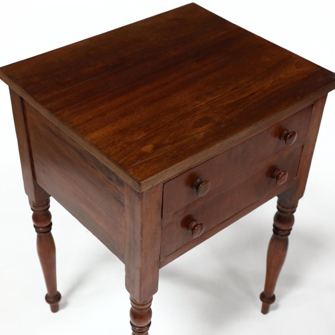 Two Sheraton Walnut Work Tables - 3