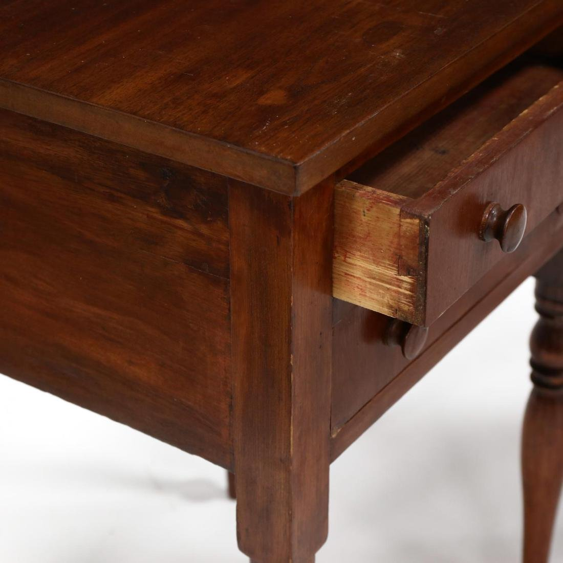 Two Sheraton Walnut Work Tables - 4