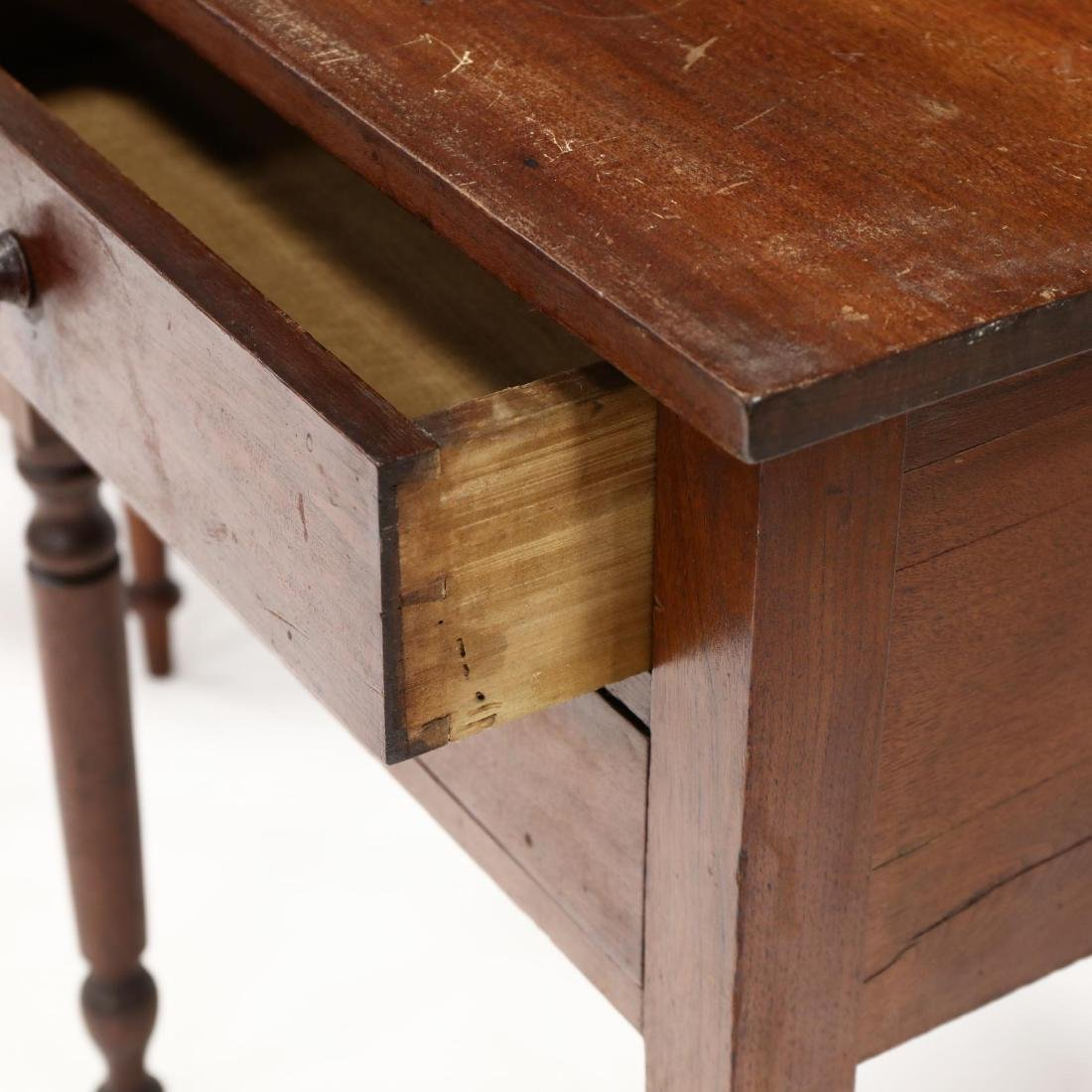 Two Sheraton Walnut Work Tables - 5