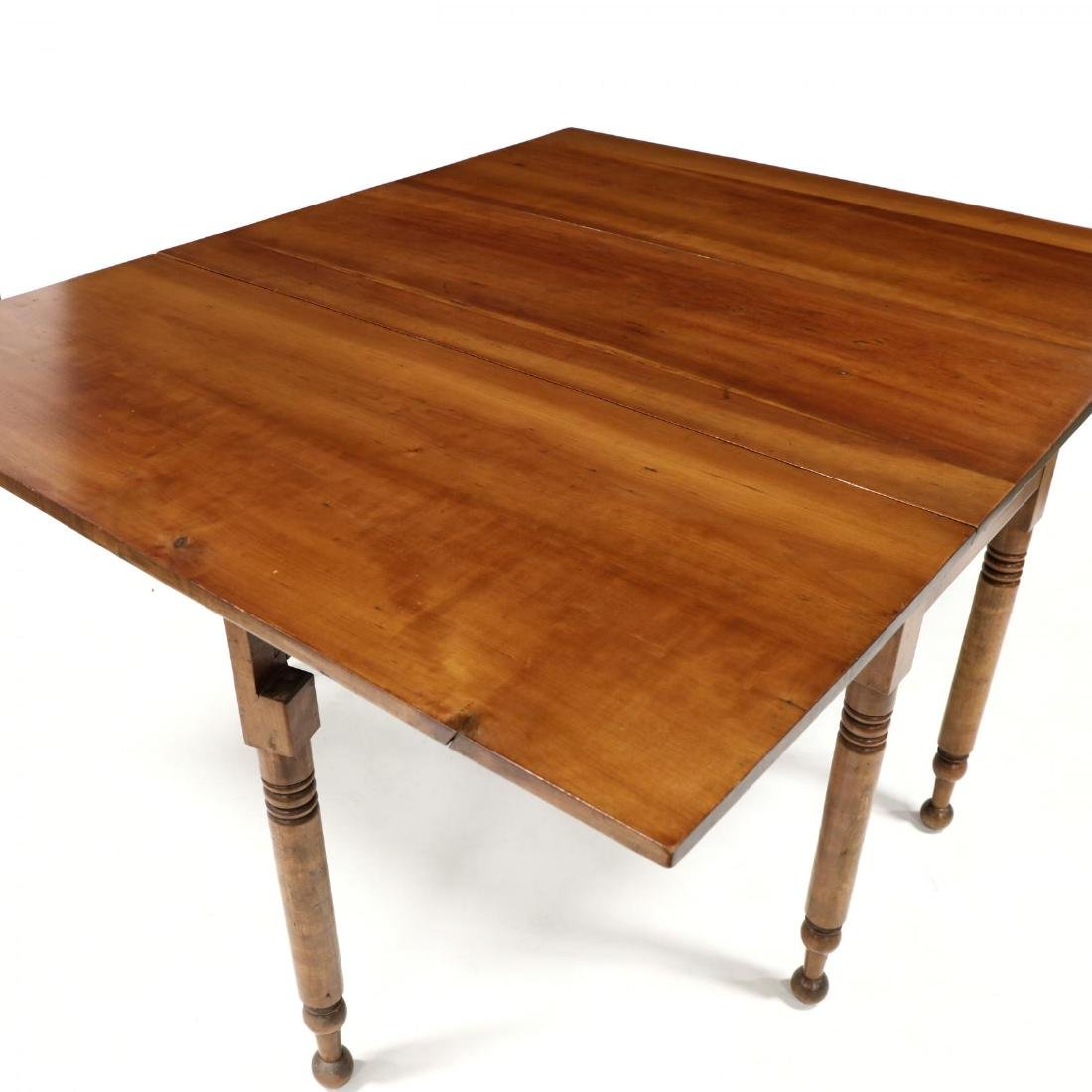 American Sheraton Cherry Dropleaf Dining Table - 3