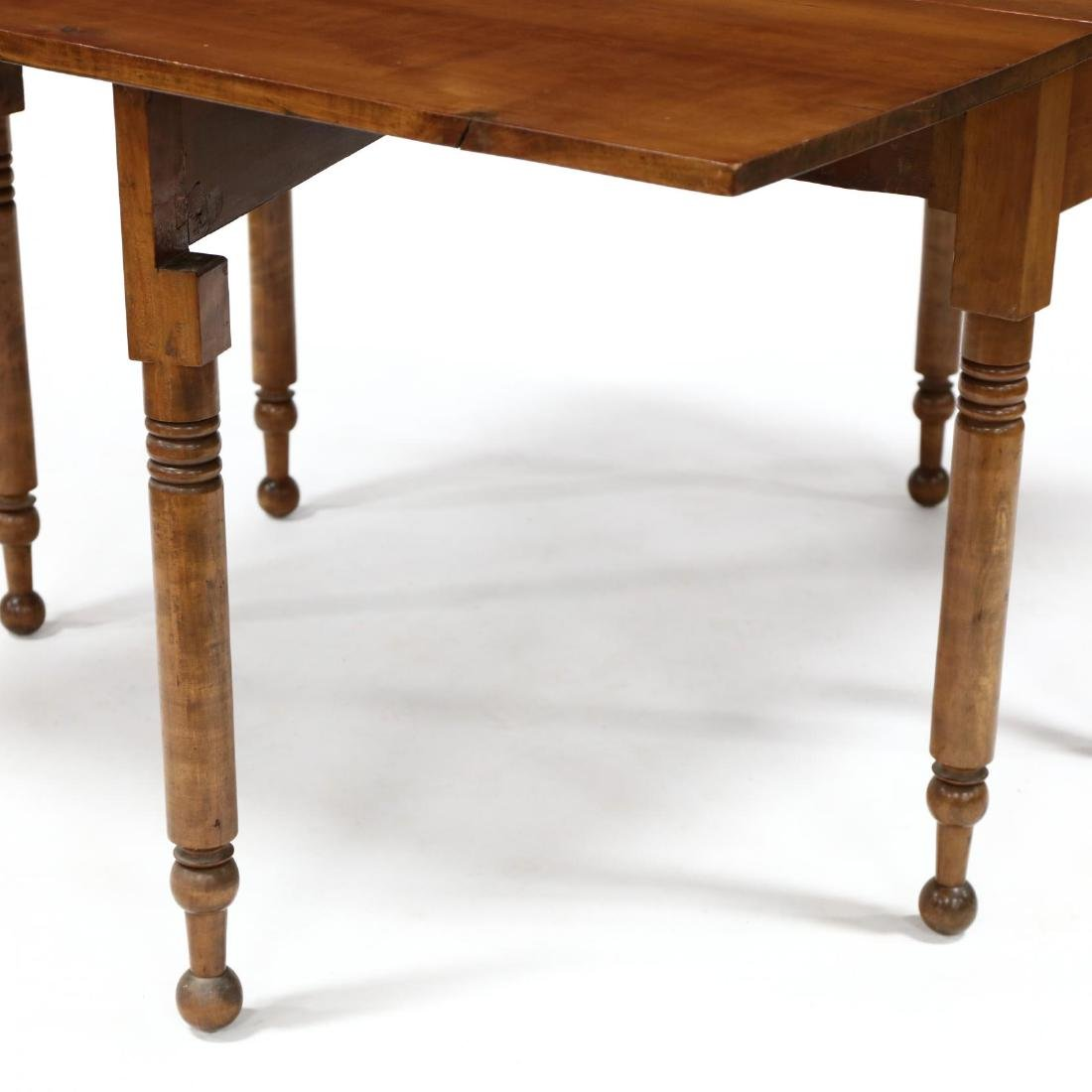 American Sheraton Cherry Dropleaf Dining Table - 4