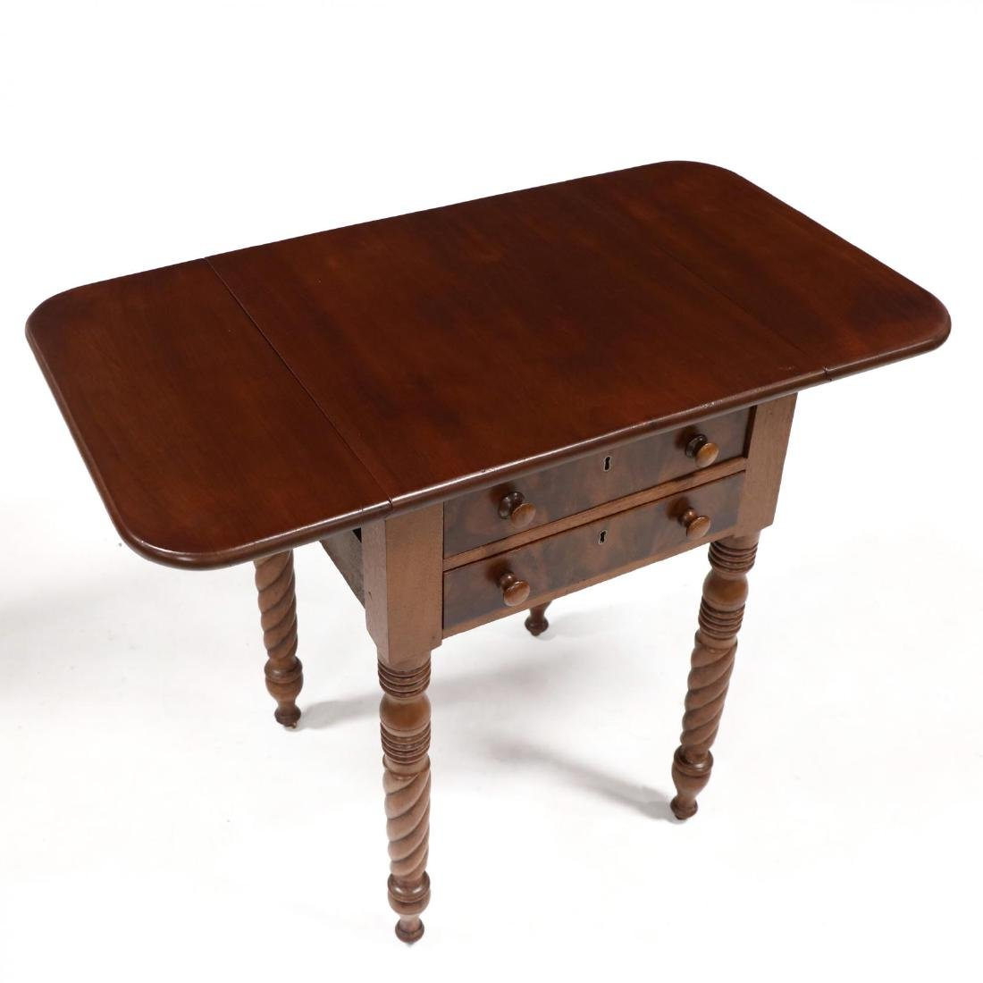 Late Federal Two Drawer Work Table - 2