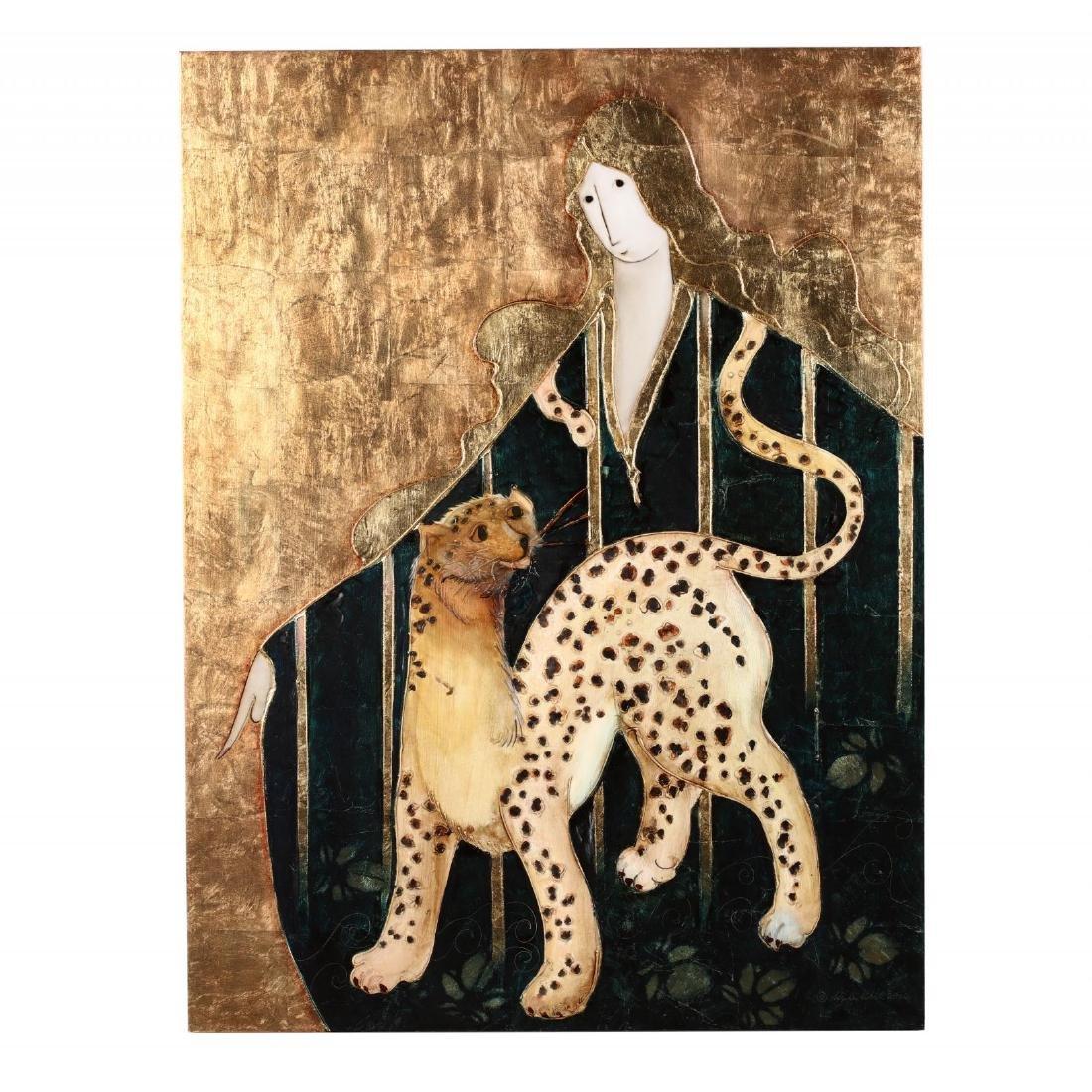 Stephen White (NC), Woman with Cheetah