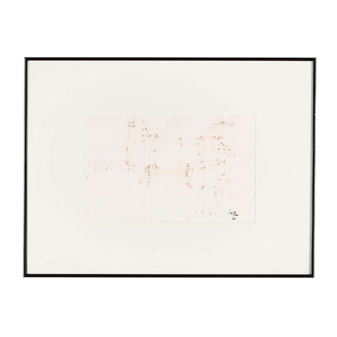Joe Cox (NC, 1915-1997), Small Ink Drawing