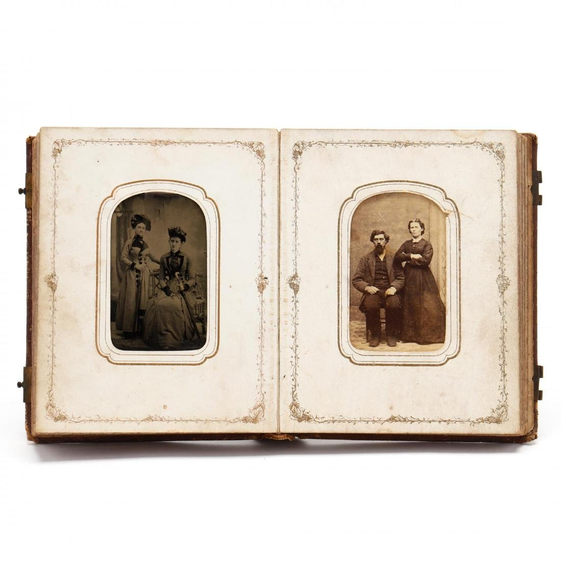 1860s Family CDV Album With Four Union Soldier - 2