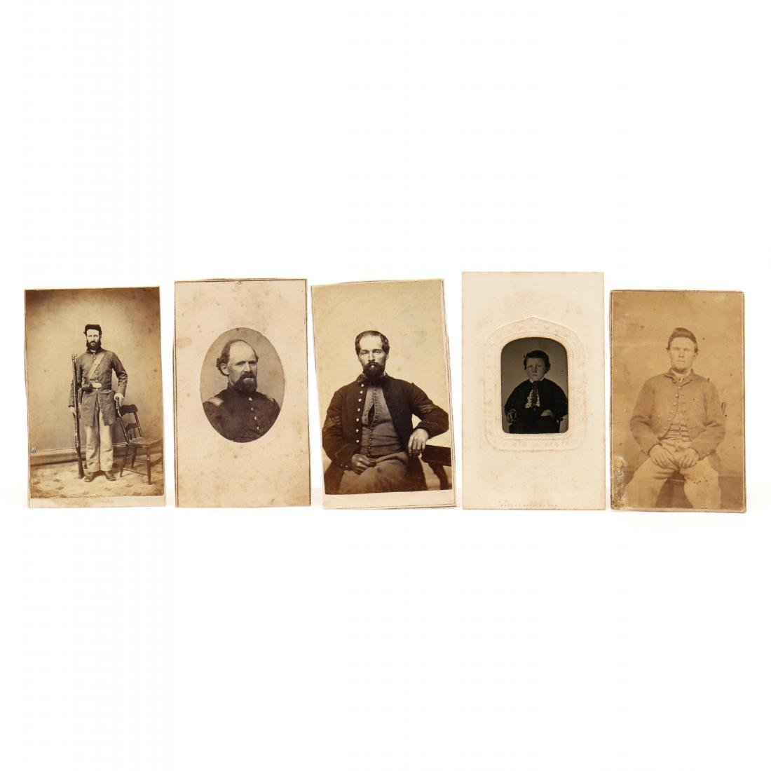 1860s Family CDV Album With Four Union Soldier - 5