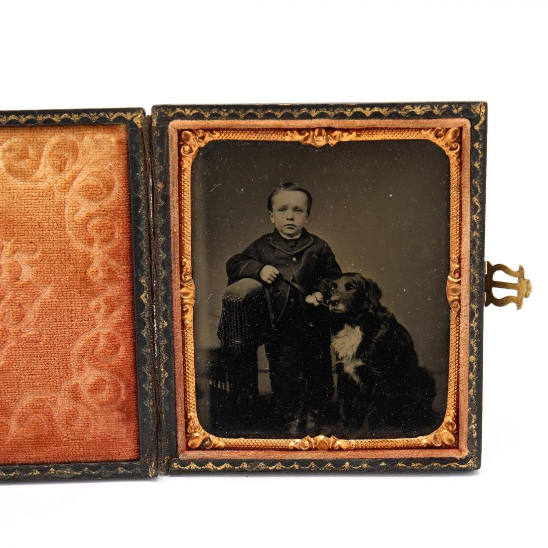 Five Antique Photographs of People With Dogs - 4