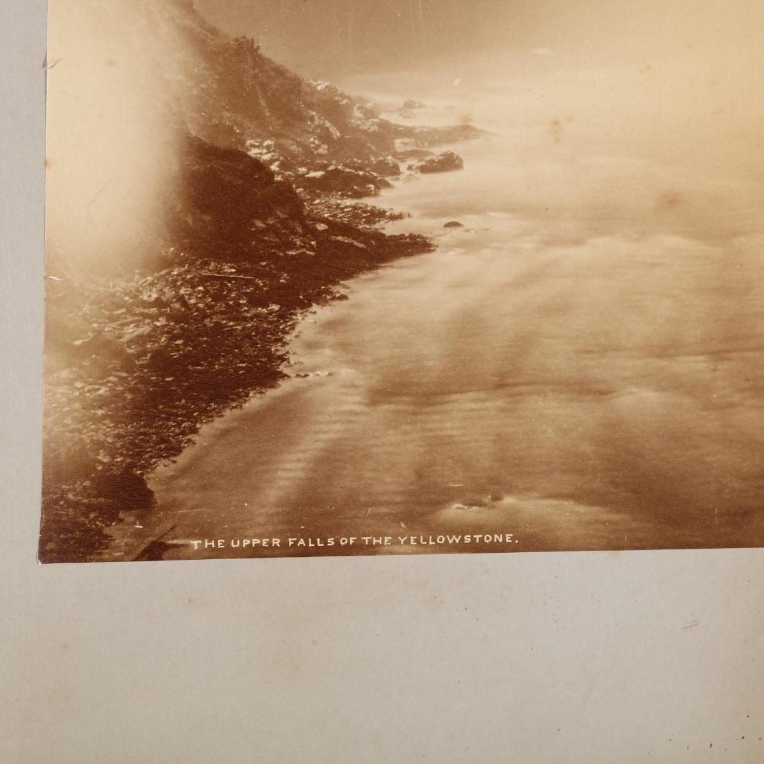 Large Albumen Photograph,  The Upper Falls of the - 3