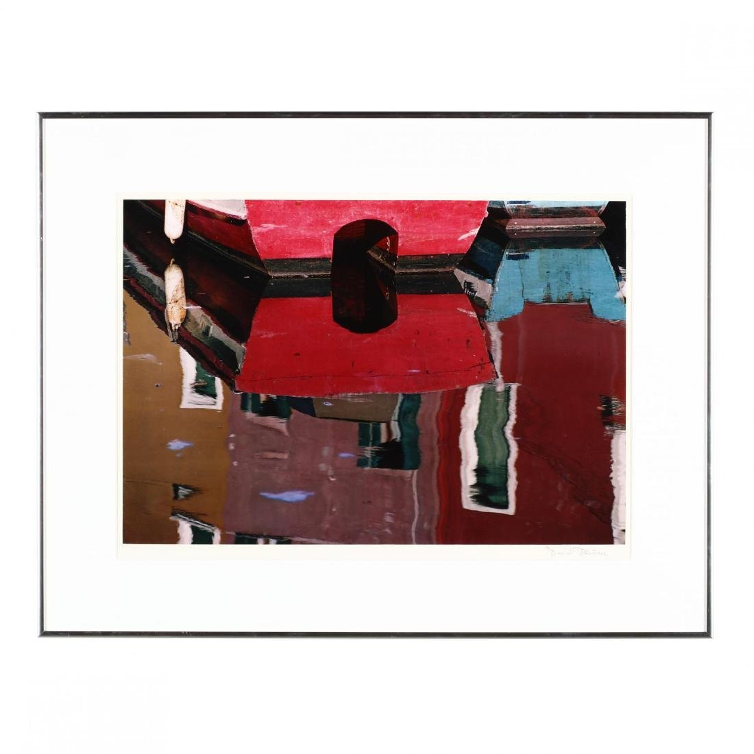 David Robinson (20th/21st Century),  Red Boat, Burano
