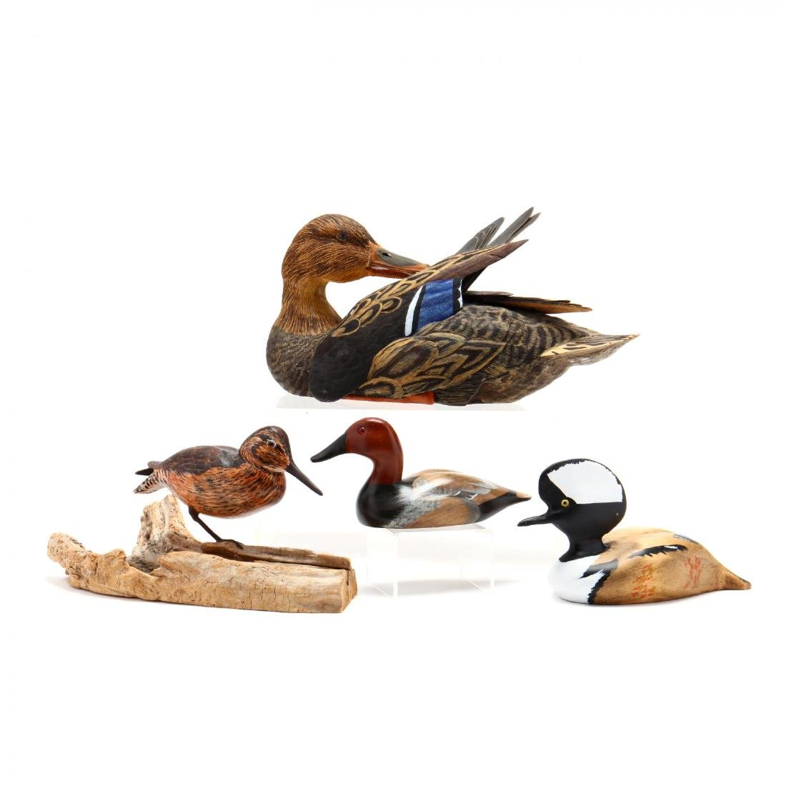 Four Carved and Painted Decoys