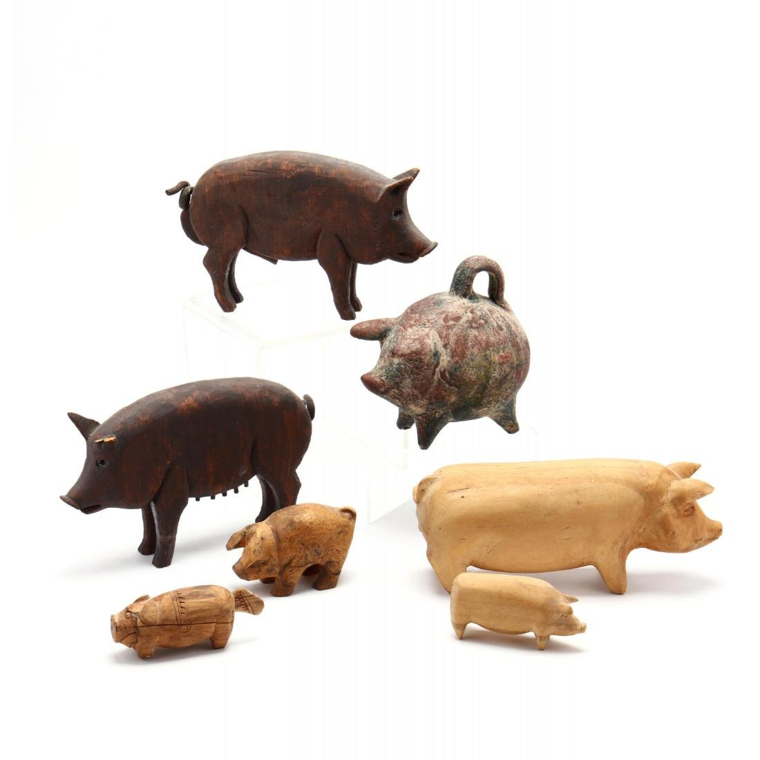 A Collection of Seven Pig Sculptures - 2