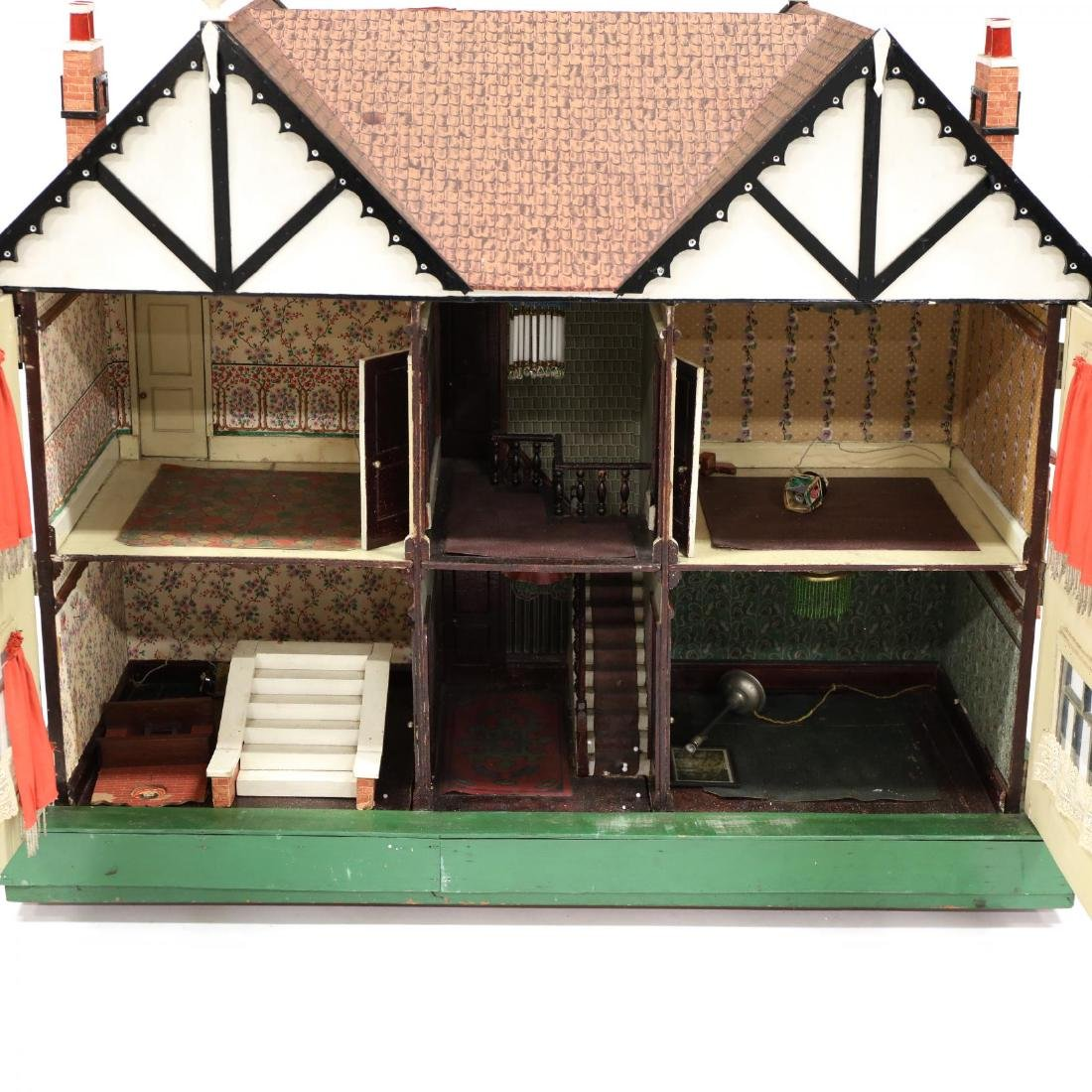 Edwardian Tudor-Style Doll House - 4