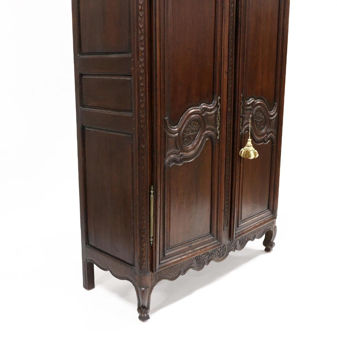 Louis XV Carved Walnut Armoire - 3