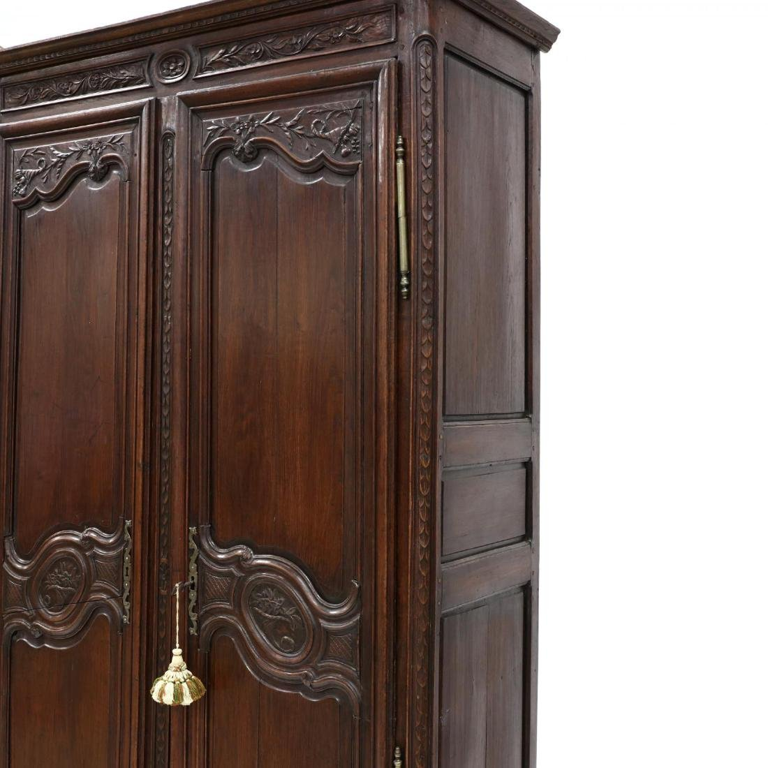 Louis XV Carved Walnut Armoire - 4