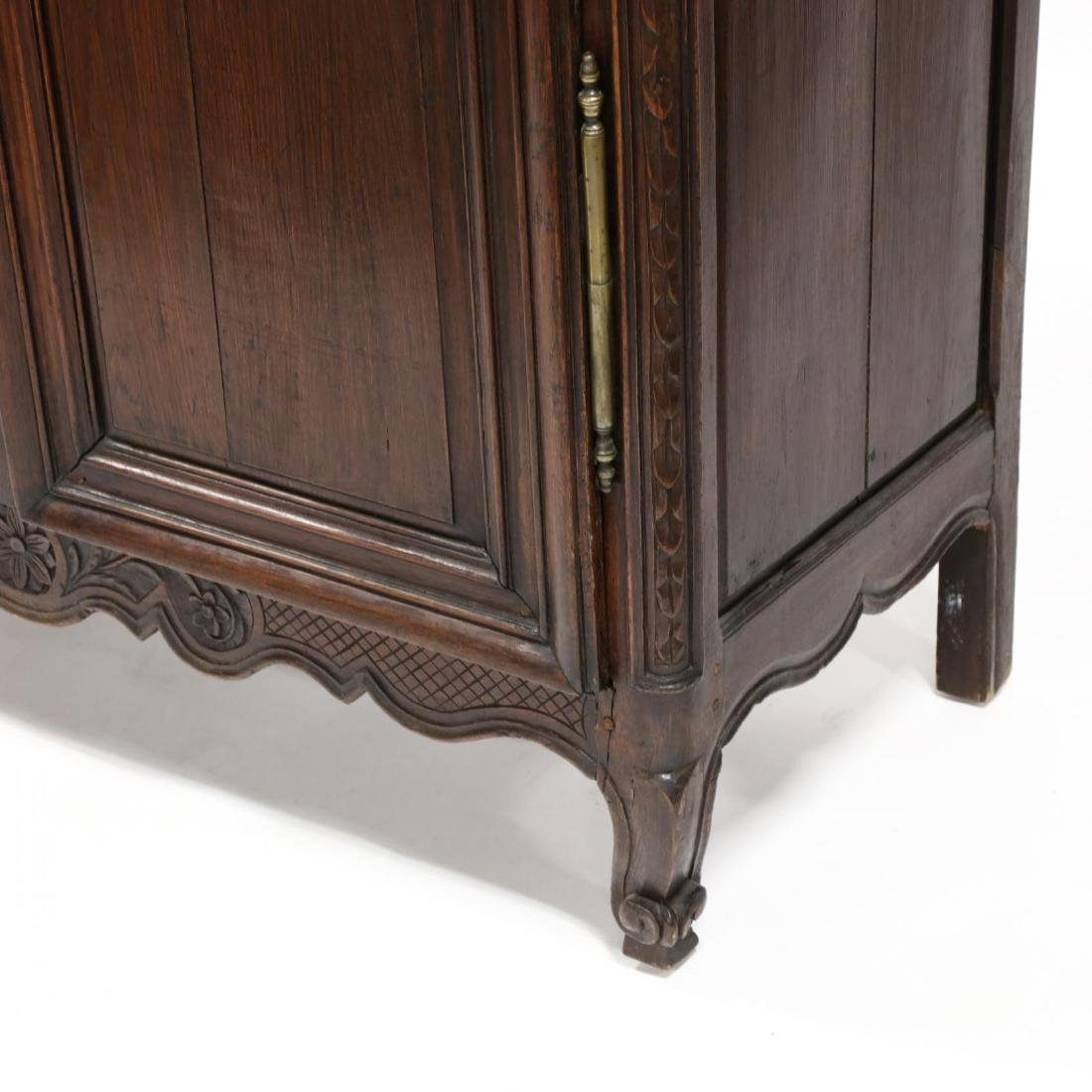 Louis XV Carved Walnut Armoire - 5