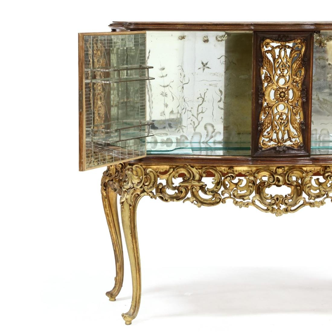 Italian Rococo Style Carved and Gilt Bar Cabinet - 2