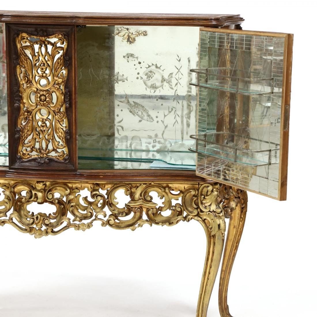 Italian Rococo Style Carved and Gilt Bar Cabinet - 3