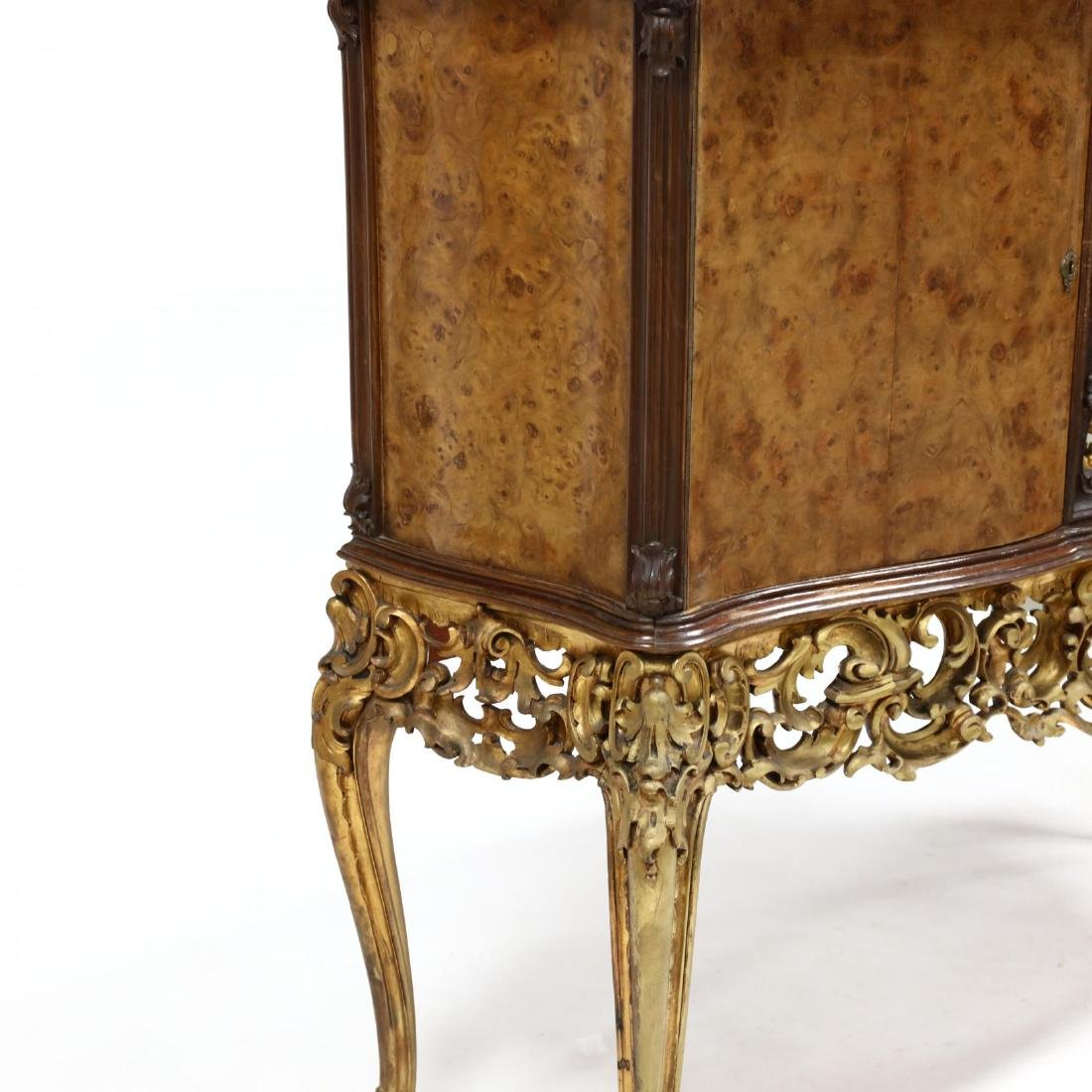 Italian Rococo Style Carved and Gilt Bar Cabinet - 5