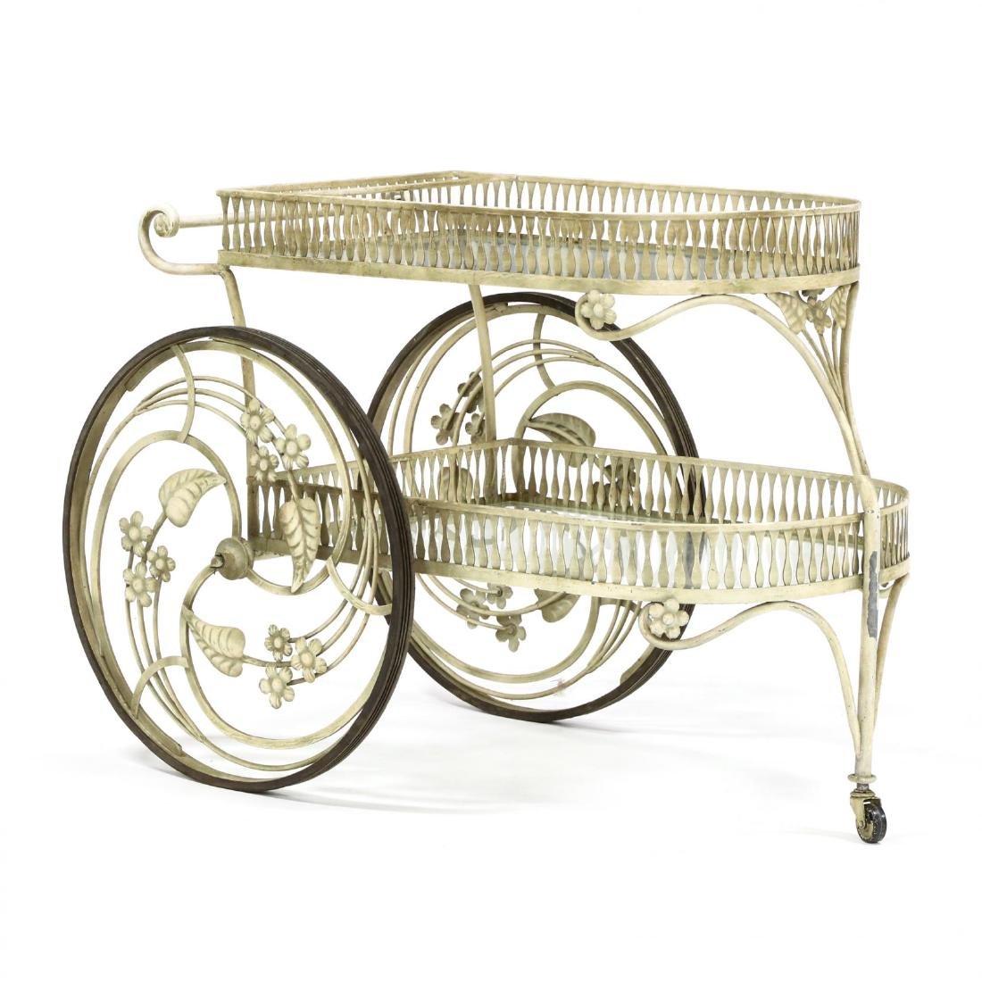 Vintage Italianate Toleware Serving Cart