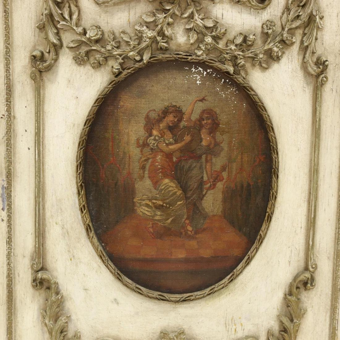 Vintage French Rococo Style Carved and Painted Cabinet - 2