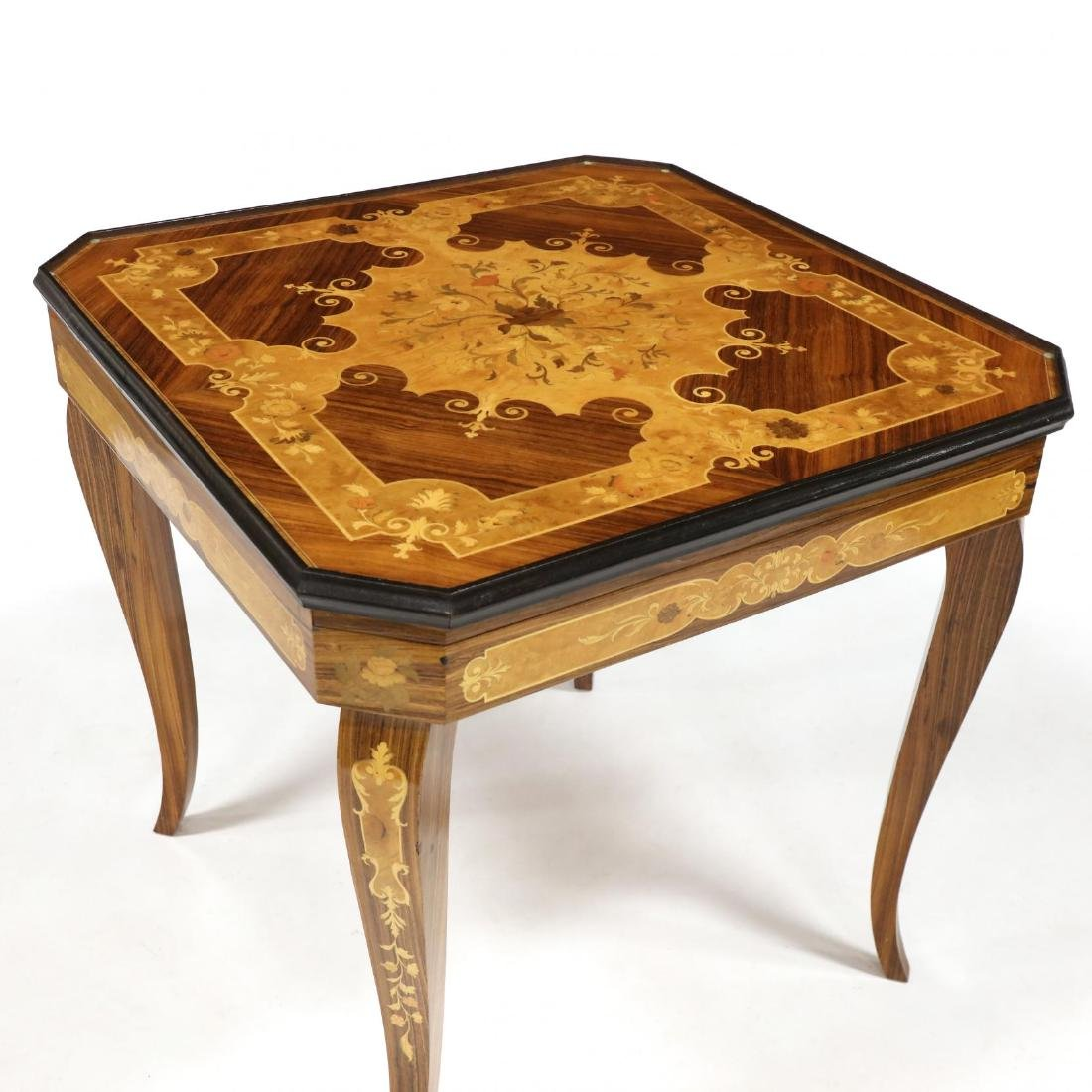 Italian Marquetry Inlaid Multi-Games Table - 2