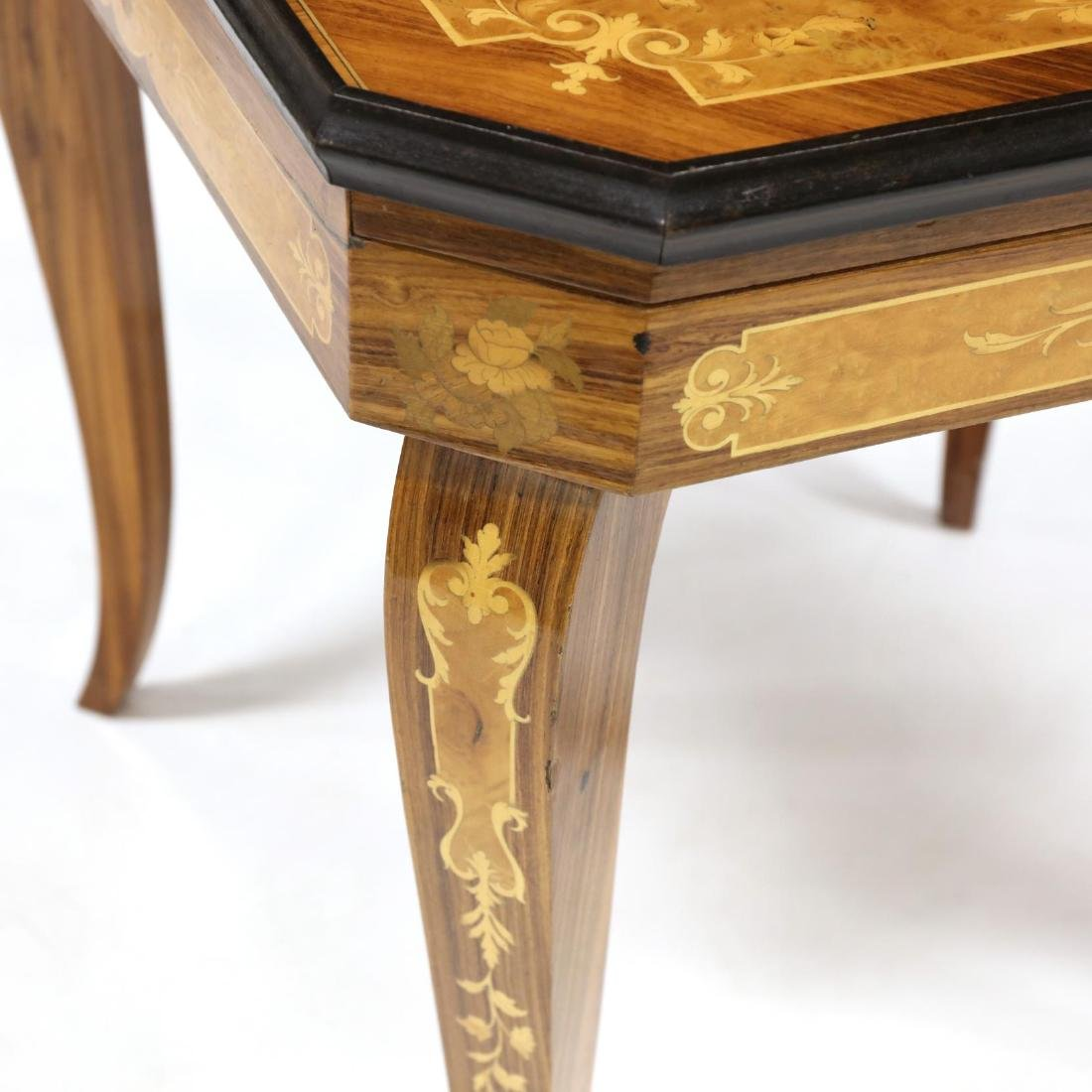 Italian Marquetry Inlaid Multi-Games Table - 3