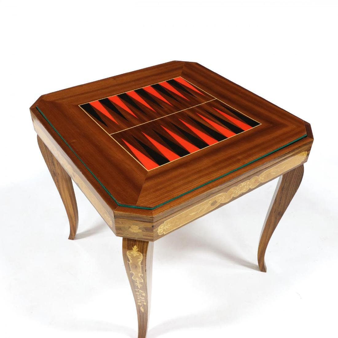 Italian Marquetry Inlaid Multi-Games Table - 5