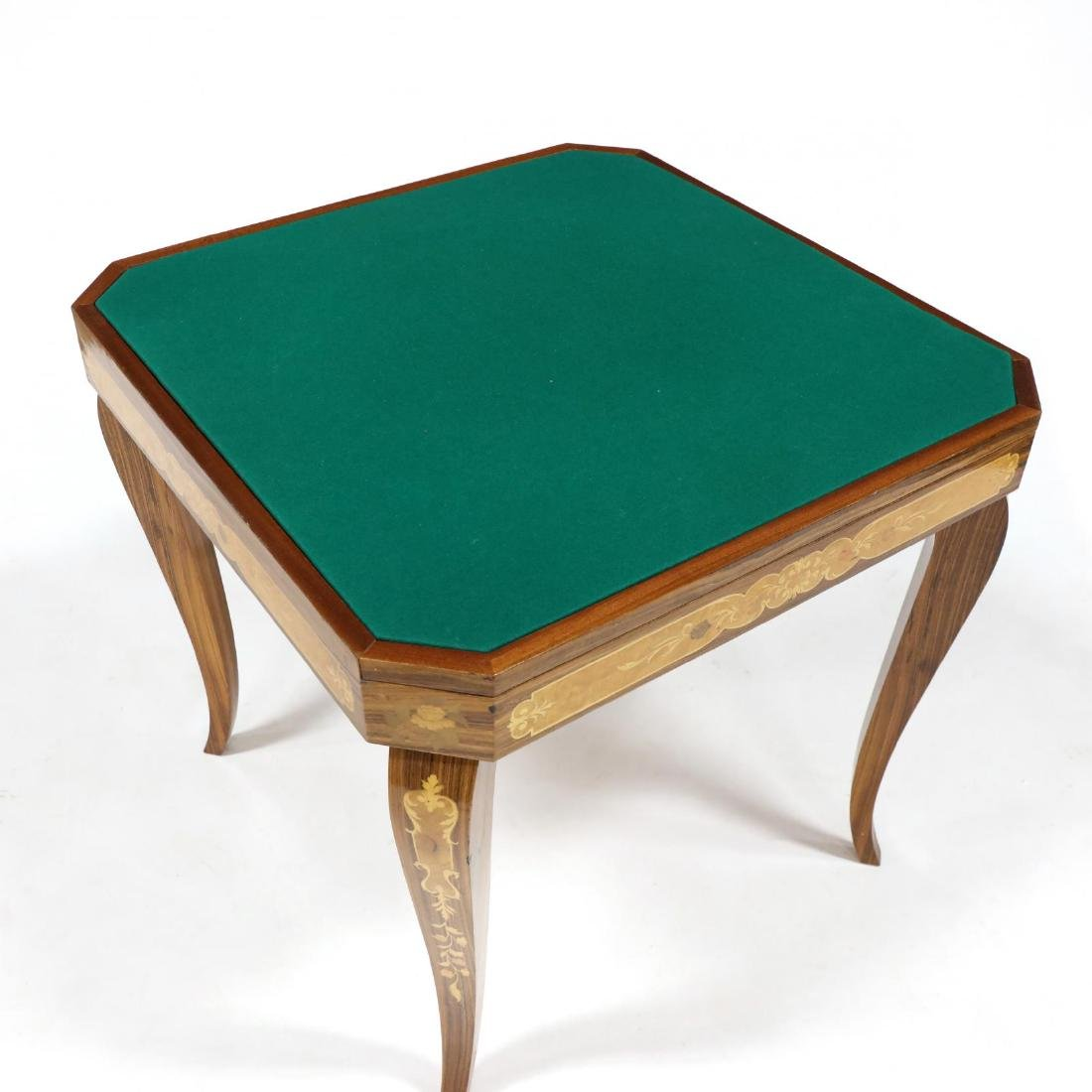 Italian Marquetry Inlaid Multi-Games Table - 6