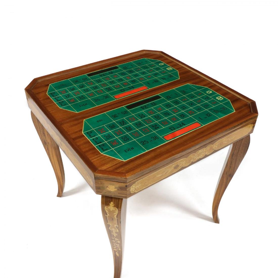 Italian Marquetry Inlaid Multi-Games Table - 7
