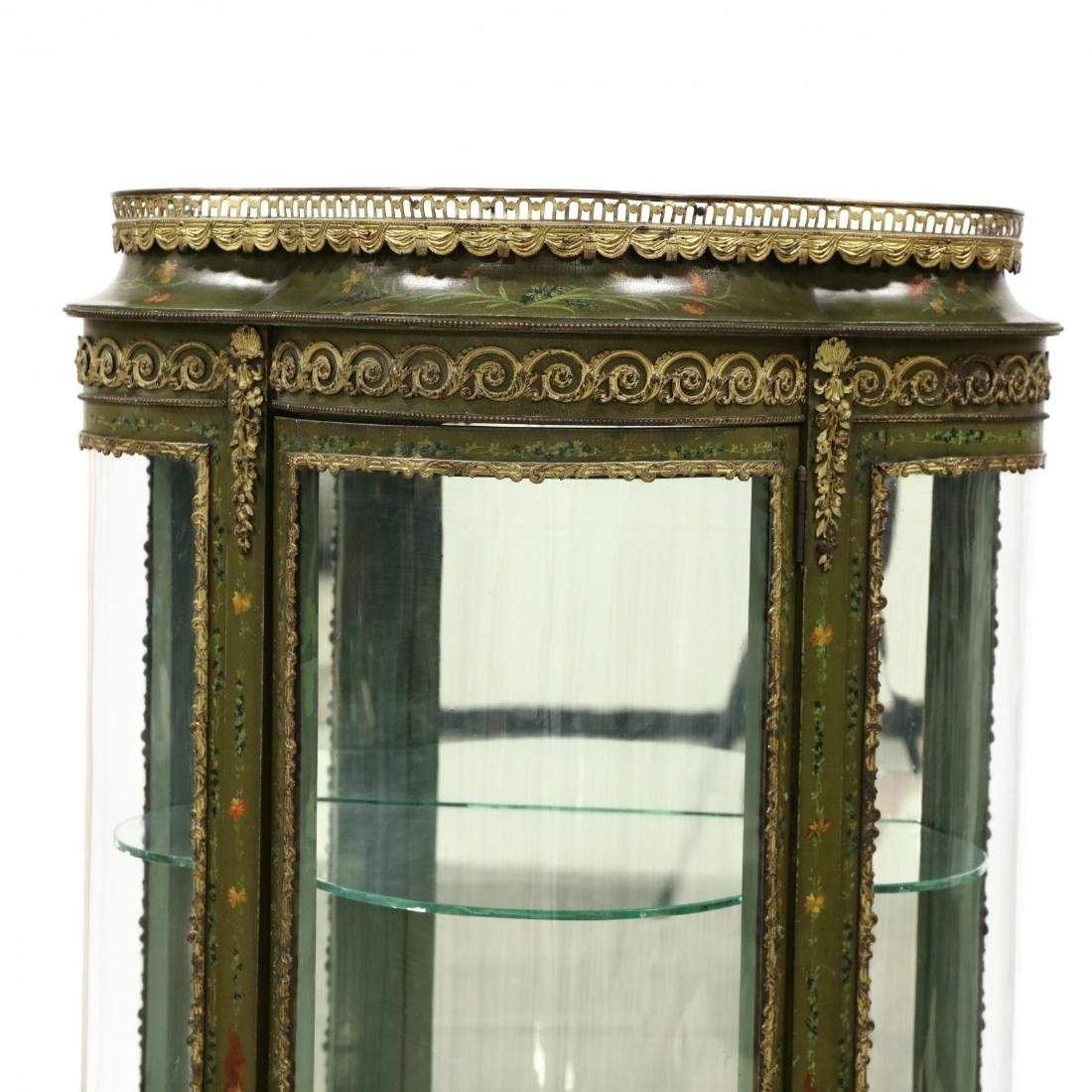Vintage French Paint Decorated Vitrine - 2