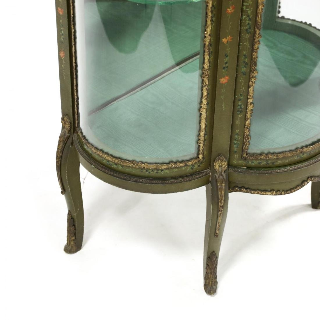 Vintage French Paint Decorated Vitrine - 4
