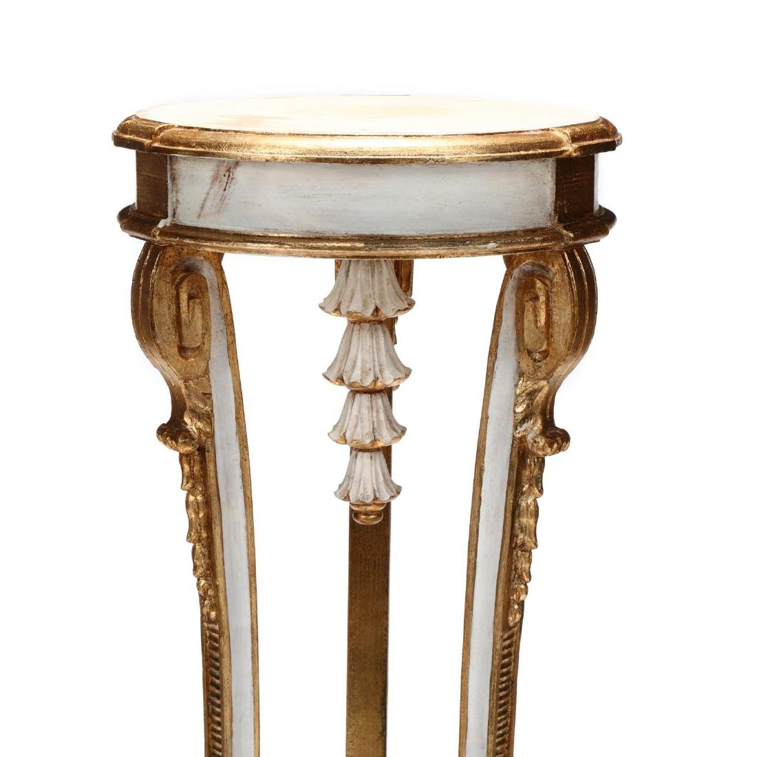 Neoclassical Style Carved and Painted Stand - 4