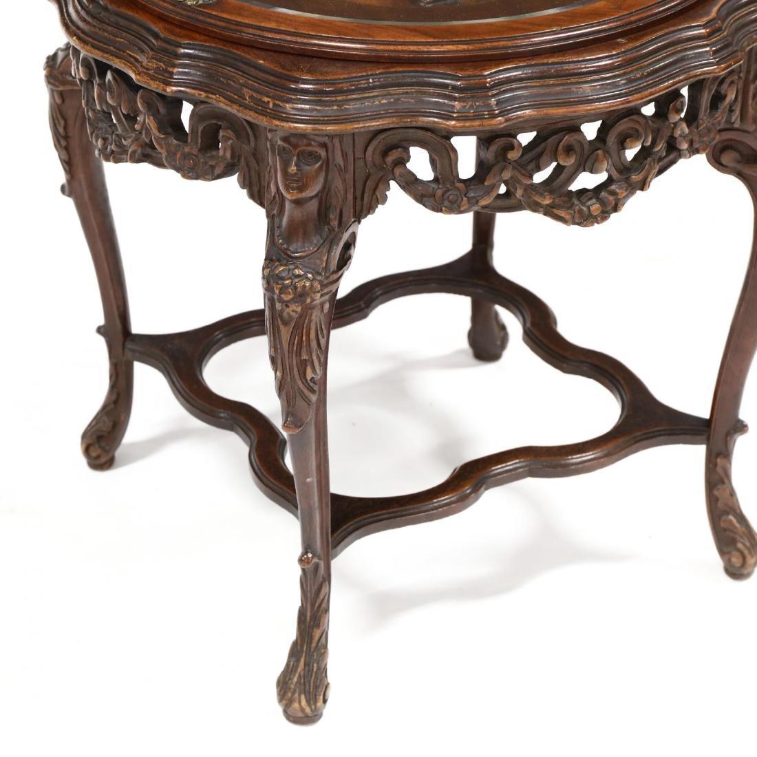 Vintage Italian Carved Walnut Figural Tray Table - 3