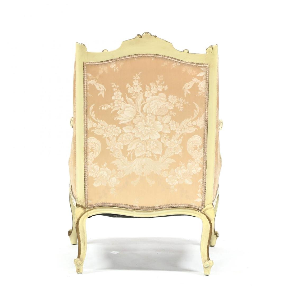 French Rococo Style Carved and Painted Bergere - 4