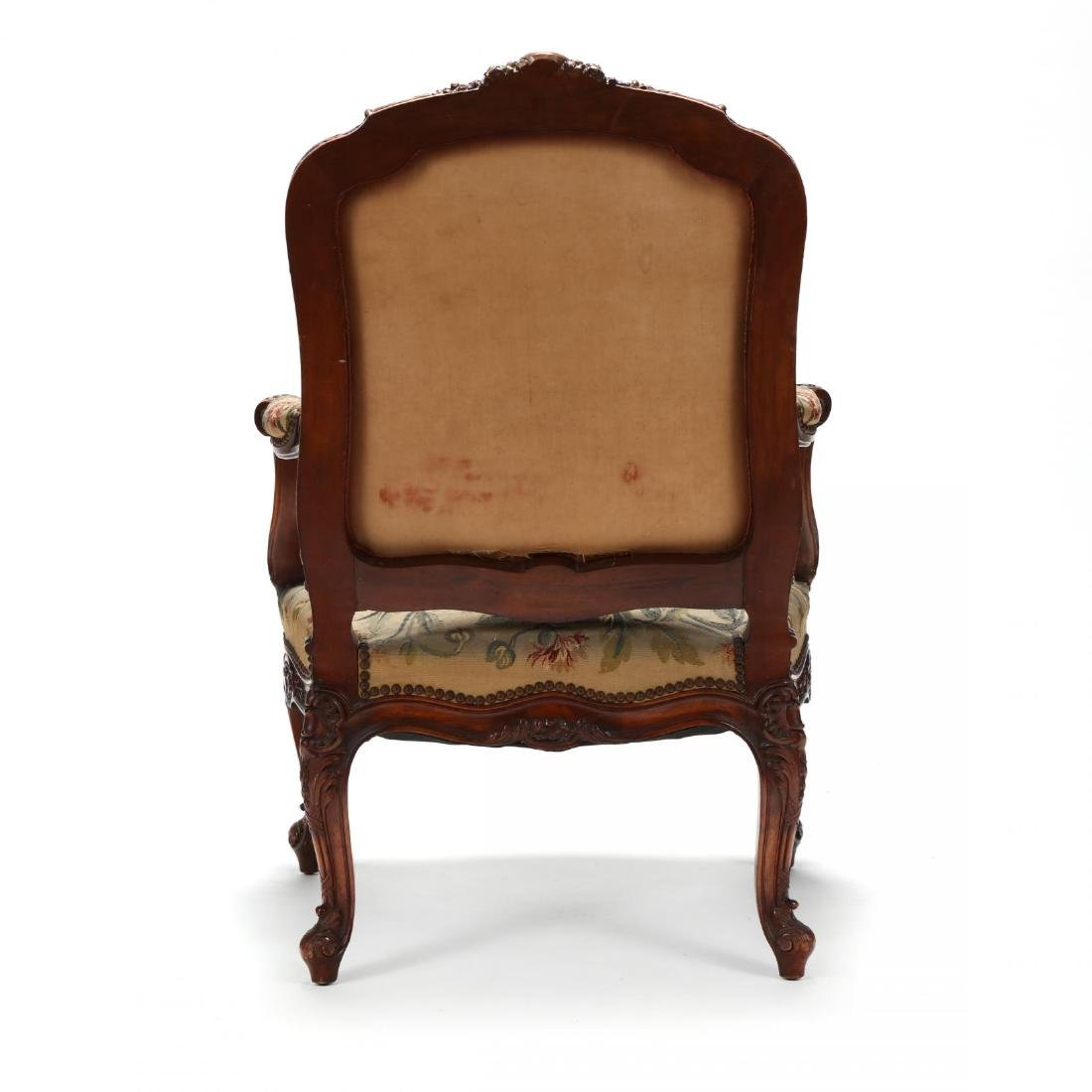 Louis XV Style Carved Walnut Fauteuil - 5