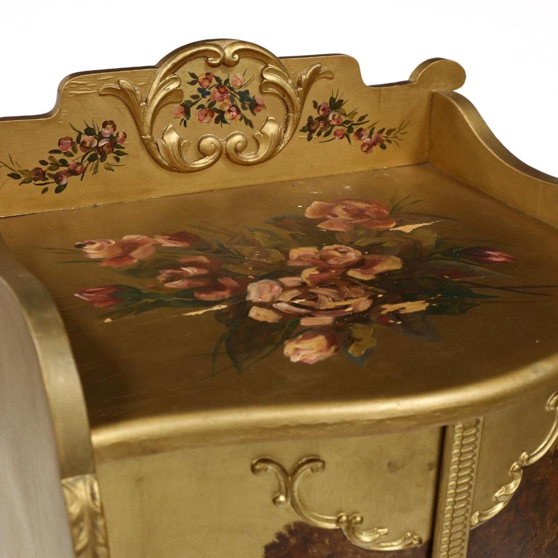 French Rococo Style Painted and Gilt Music Cabinet - 3