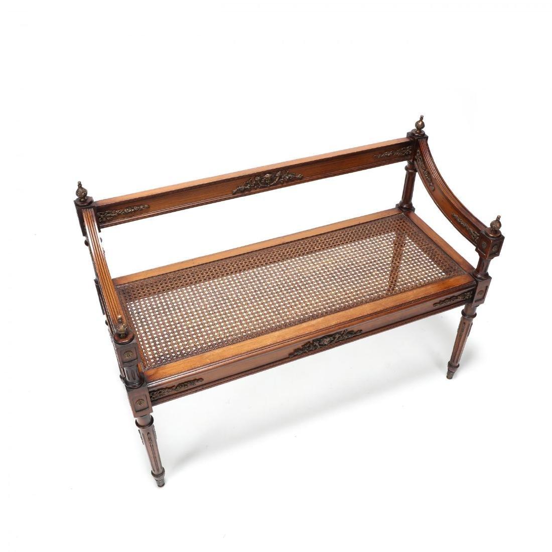 Louis XVI Style Cane Seat Settee - 2