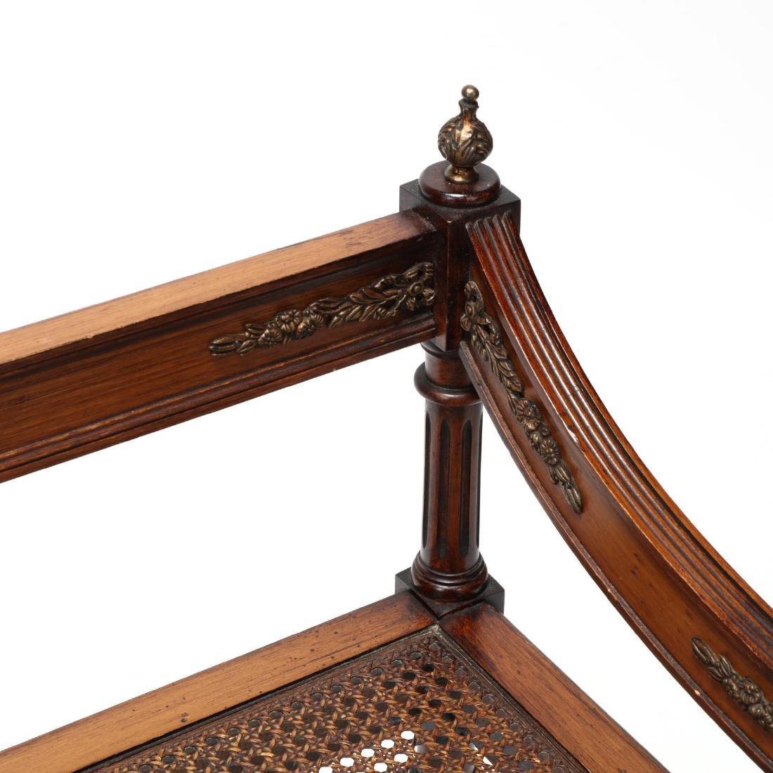 Louis XVI Style Cane Seat Settee - 3
