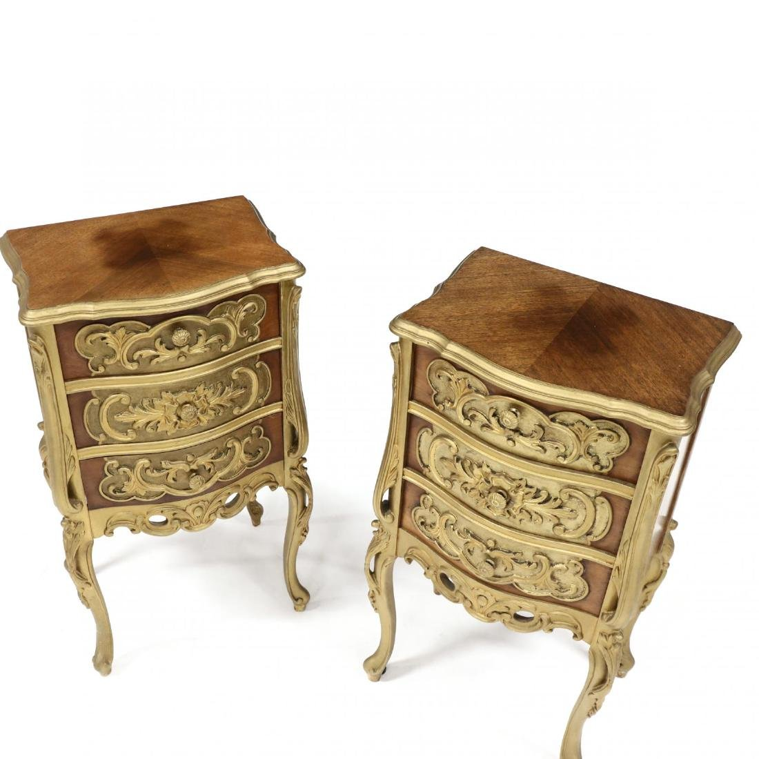 Pair of Italian Rococo Style Diminutive Chests - 2
