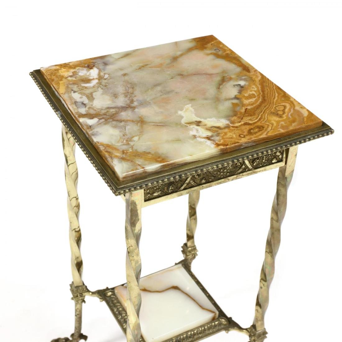 French Brass and Agate Table - 2