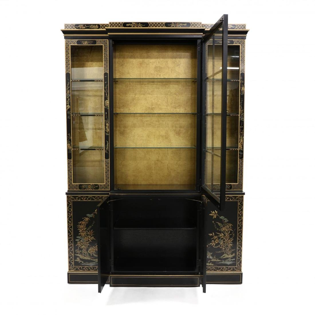 Drexel, Chinoiserie Decorated Lighted Breakfront - 2