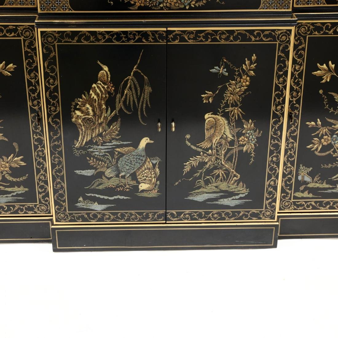 Drexel, Chinoiserie Decorated Lighted Breakfront - 4