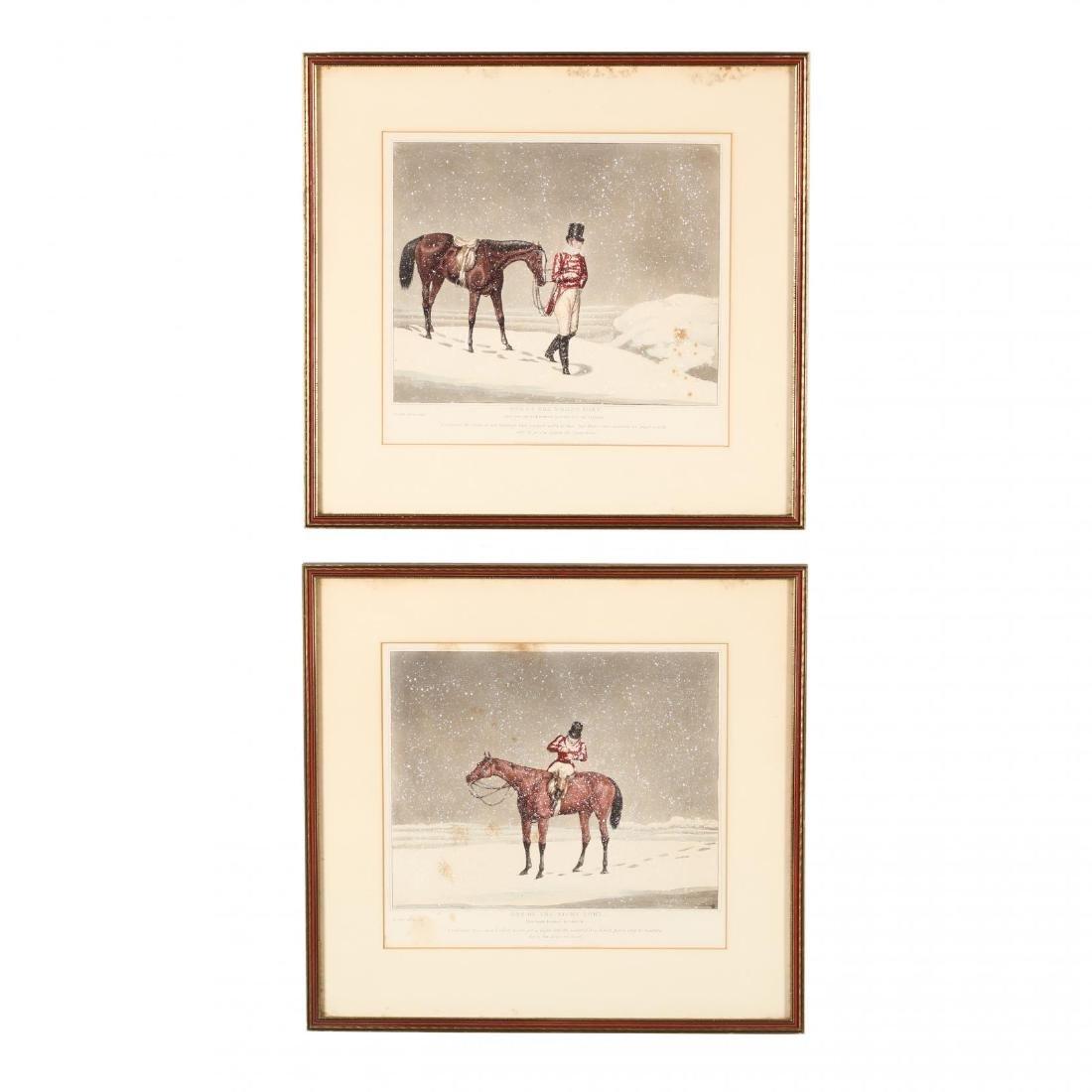 after Henry Alken (British, 1785-1851), Pair of Snowy