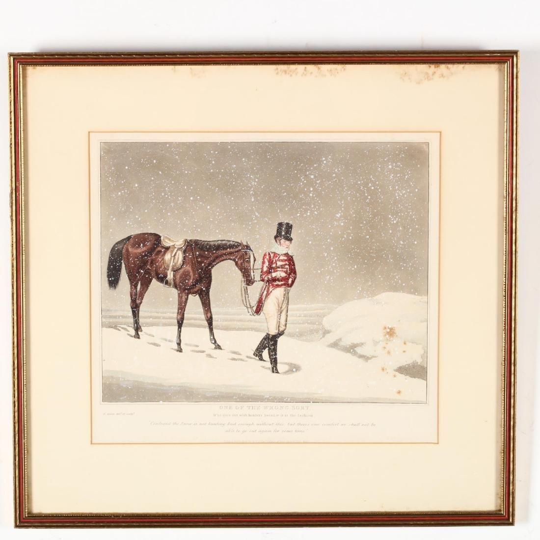 after Henry Alken (British, 1785-1851), Pair of Snowy - 2